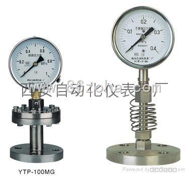 不锈钢耐腐隔膜压力表